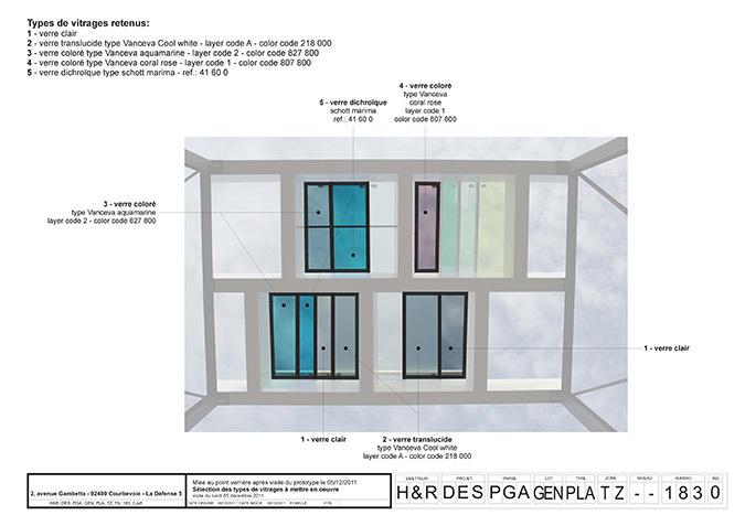 Prototype de verriere, hall d'accueil, Tour Eqho, Paris La Défense, France - Hubert & Roy architectes et associés © Concepto, Roger Narboni