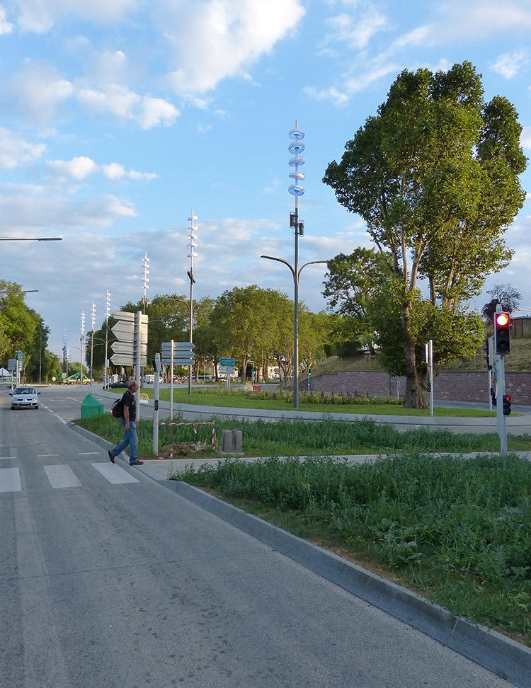 Onde chromatique, boulevard de la Seille, Metz 10 © L'Atelier Lumière