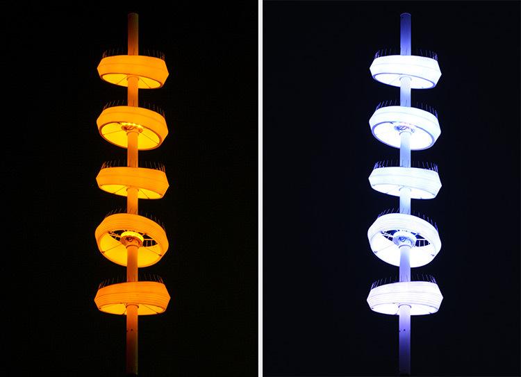 Onde chromatique, boulevard de la Seille, Metz 11-12 © L'Atelier Lumière