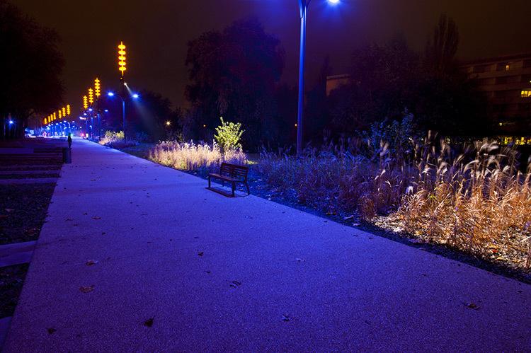 Onde chromatique, boulevard de la Seille, Metz 2© L'Atelier Lumière