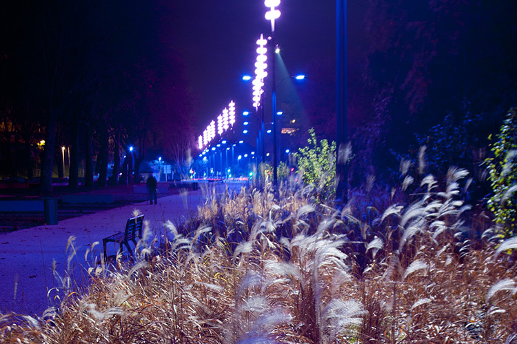 Onde chromatique, boulevard de la Seille, Metz 5 © L'Atelier Lumière