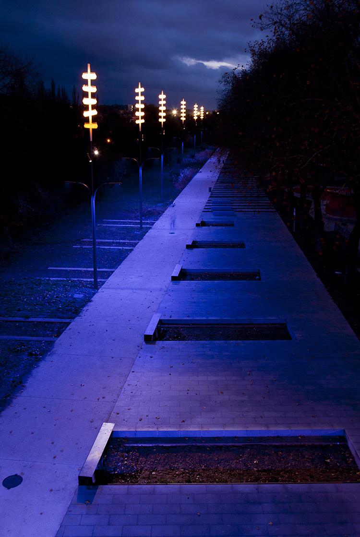 Onde chromatique, boulevard de la Seille, Metz 7 © L'Atelier Lumière