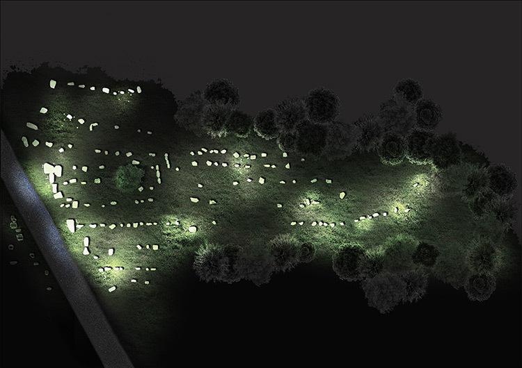 Skedanoz, les nuits scintillantes d'Erdeven-Plan-masse
