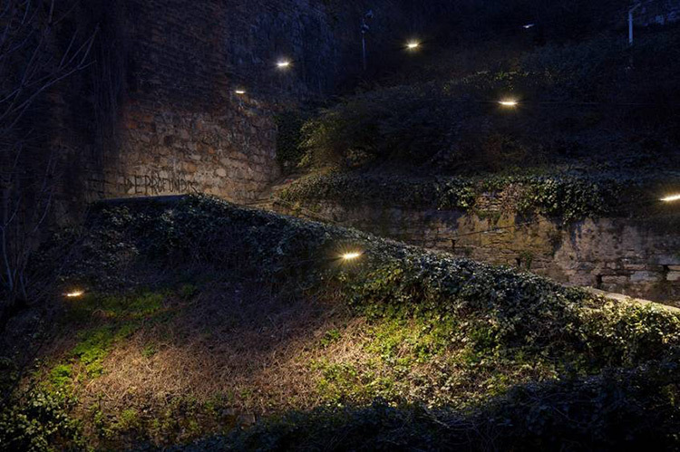 Montée du boulevard, Lyon - Aurélien de Fursac, agence Côté lumière - Photo Xavier Boymond