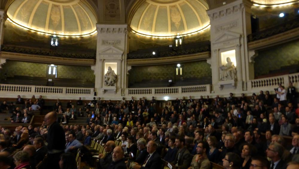 Année de la Lumière en France 2015 - Cérémonie de lancement - Public - Grand Amphithéâtre de la Sorbonne, Paris - Photo : Vincent Laganier