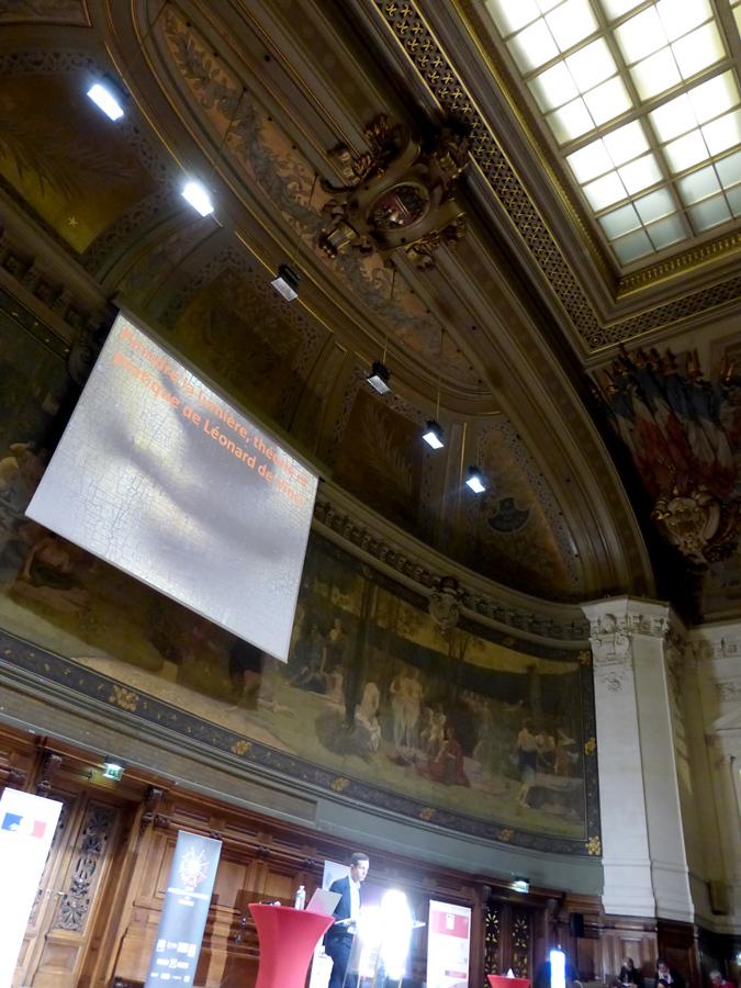 Année de la Lumière en France 2015 - Cérémonie de lancement - Scène - Grand Amphithéâtre de la Sorbonne, Paris - Photo : Vincent Laganier